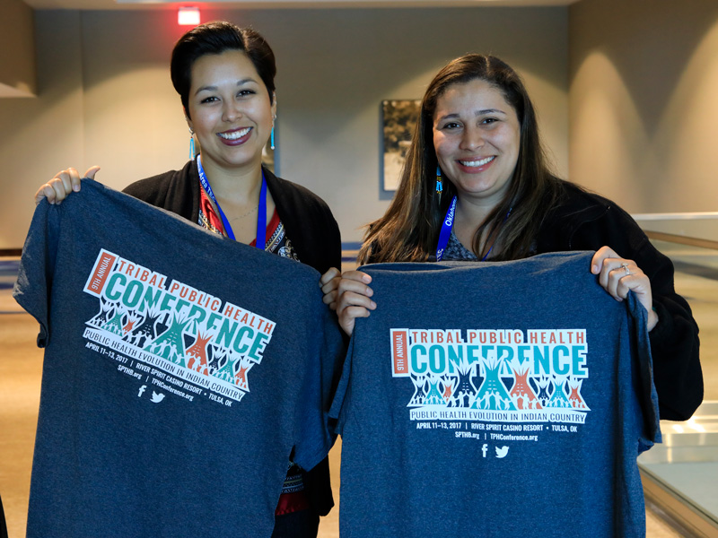 Cassandra Camp and Victoria Lowry with their new TPHC17 tshirt